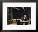 L'automate, 1927 Estampe encadrée par Edward Hopper