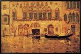 Old Palace, Venice Inramat kanvastryck av James Wilson Morrice