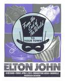 Elton John Serigraph by  Print Mafia