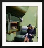 Compartiment C, voiture 293, 1938 Estampe encadrée par Edward Hopper