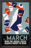Historic Reading Posters - In March Read the Books Posters