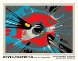 Elvis Costello and the Imposters Print by Kii Arens