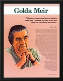 Heroes of the 20th Century - Golda Meir Prints