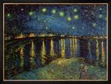 Stjärnklar natt över Rhône, ca 1888 Posters av Vincent van Gogh