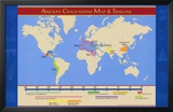 Ancient Civilizations Map & Timeline Prints