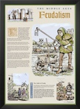 The Middle Ages - The Feudal System Poster