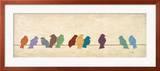 Vögel treffen sich Kunstdrucke von Patricia Quintero-Pinto