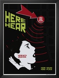 Grasping Grammar: Hear Here Poster by Christopher Rice