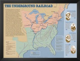 The Underground Railroad Map Prints