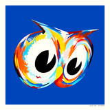 Blue Owl Prints by Kii Arens