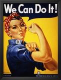 Lo podemos conseguir (Rosie la remachadora) Obra de arte por J. Howard Miller