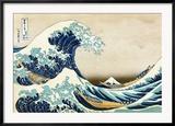 """Die große Welle von Kanagawa (aus der Serie """"36 Ansichten des Berges Fuji""""), ca. 1829 Kunstdruck von Katsushika Hokusai"""