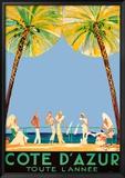 Jean-Gabriel Domergue - Azurové pobřeží po celý rok, Côte d'Azur (reklamní plakát ve francouzštině) Reprodukce