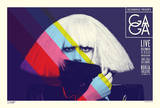 Lady Gaga - Stripes Posters by Kii Arens