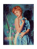 1950s UK Womens Story Illustrations Magazine Plate Giclee Print