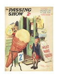 1930s UK The Passing Show Magazine Cover Poster
