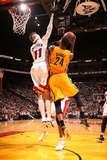 Miami, FL - May 24: Paul George and Chris Andersen Photographic Print