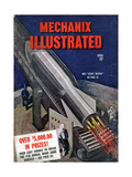1940s USA Mechanix Illustrated Magazine Cover Posters