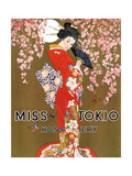 1920s USA Miss Tokio Magazine Advertisement Posters