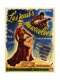 1940s France Lady In The Dark Film Poster Print