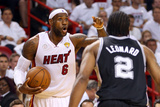 Miami, FL - June 20: LeBron James and Kawhi Leonard Photographic Print by Mike Ehrmann