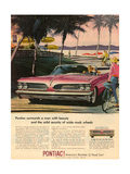 1950s USA Pontiac Magazine Advertisement Giclee Print