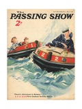 1930s UK The Passing Show Magazine Cover Affischer