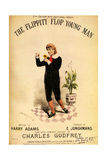 1880s UK The Flippity Flop Young Man Sheet Music Cover Impression giclée