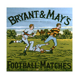 1900s UK Bryant and May's Label Reproduction procédé giclée