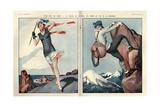 1920s France La Vie Parisienne Magazine Plate Art