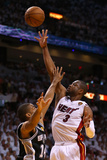 Miami, FL - June 20: Dwyane Wade and Tim Duncan Photographic Print by Mike Ehrmann