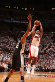 Miami, FL - June 20: Mario Chalmers and Kawhi Leonard Photographic Print by Nathaniel S. Butler