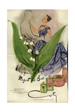 1940s USA Coty Magazine Advertisement Giclee Print