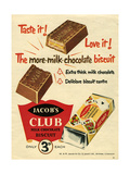 1960s UK Jacob's Magazine Advertisement Giclee Print