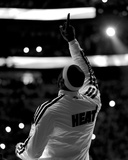 Miami, FL - June 20: (Editors note: This image has been converted to black and white) LeBron James Photographic Print by Mike Ehrmann