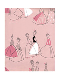 1950s UK Women in Dresses Book Plate Giclee Print