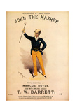 1880s UK John The Master Sheet Music Cover Posters