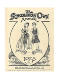 1930s UK The Schoolgirls Own Comic/Annual Cover Giclee Print