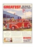 1930s USA Desoto Magazine Advertisement Giclee Print