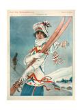 1920s France La Vie Parisienne Magazine Plate Impressão giclée