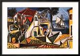 Paysage méditerranéen Affiche par Pablo Picasso