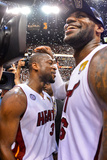 Miami, FL - June 20: LeBron James and Dwyane Wade Photographic Print by Jesse D. Garrabrant
