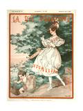 1920s France La Vie Parisienne Magazine Cover Art