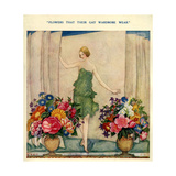 1920s UK Fashion and Flowers Magazine Plate Print