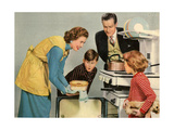 1950s UK Housewife Magazine Plate Giclee Print