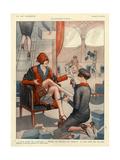 1920s France La Vie Parisienne Magazine Plate - Giclee Baskı