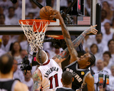 Miami, FL - June 20: Kawhi Leonard and Chris Andersen Photo by Mike Ehrmann