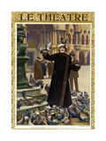 1910s France Le Theatre Magazine Cover Poster