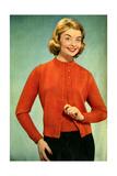 1950s UK Womens Knitwear Magazine Advertisement Prints