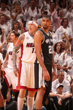 Miami, FL - June 20: Chris Andersen and Tim Duncan Photographic Print by Nathaniel S. Butler